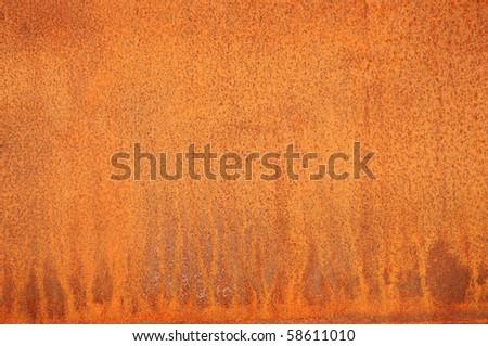 Closeup of a rusty plate.
