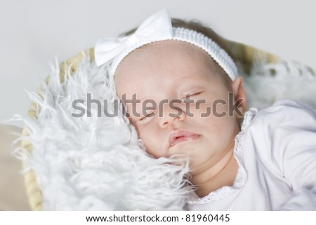 Closeup of a sleeping baby