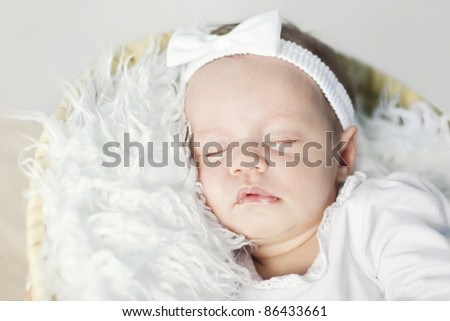 Closeup of a sleeping baby