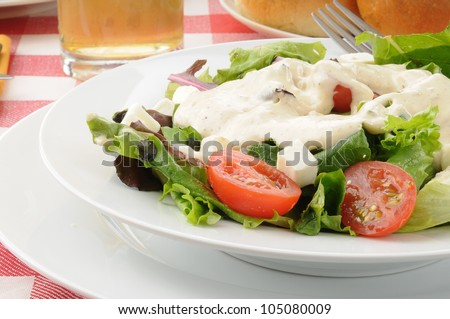 salad with ranch dressing  Ranch Dressing Salad