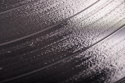Closeup of a Vinyl Record