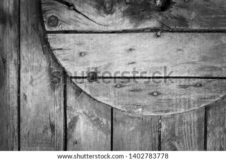 Closeup of a wooden coil for a cable and cable, background or concept. #1402783778