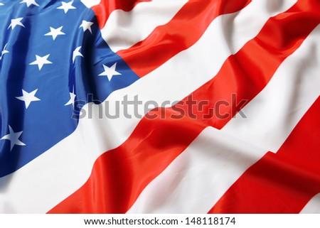 Closeup of American flag #148118174