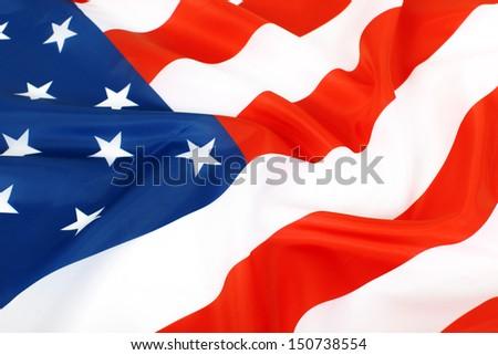 Closeup of American flag #150738554
