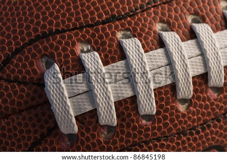 Closeup of American football.