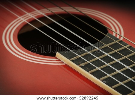 closeup of an acoustic guitar strings stock photo 52892245 shutterstock. Black Bedroom Furniture Sets. Home Design Ideas