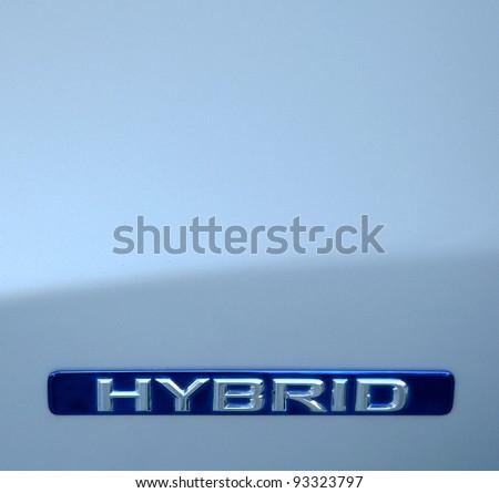 Closeup Of An Environmental Hybrid Car