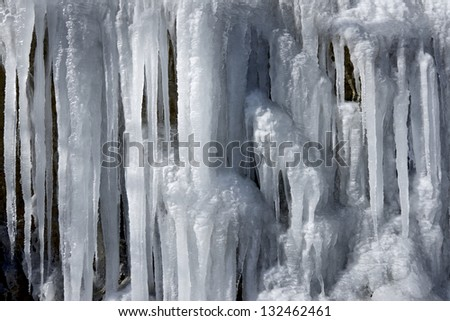 closeup of an icefall, Pyrenees, Spain