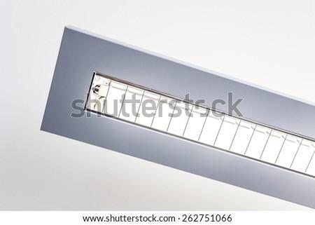 Closeup of an office light
