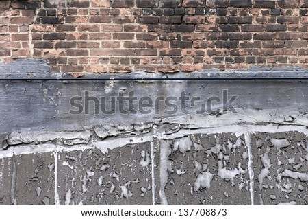 closeup of an old brick wall