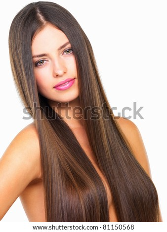 stock photo closeup of attractive nude woman with long healthy hair on white background 81150568 Internet Sex Video Case Stirs