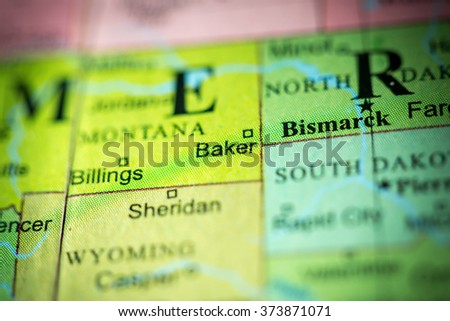 Free Photos Closeup Of Baker Montana On A Political Map Of Usa