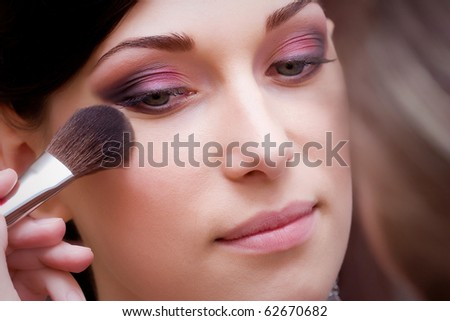 closeup of beautiful brunette young lady profile prepared for the wedding event