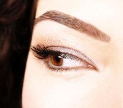 Closeup of beautiful eyes