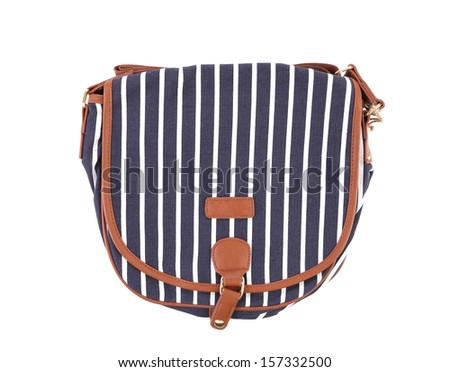 Closeup of beautifull women bag. Isolated on white background.