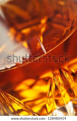 closeup of beverage cognac background