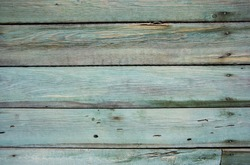 closeup of blue old wood texture