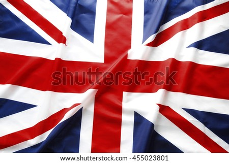 Closeup of British Union Jack flag