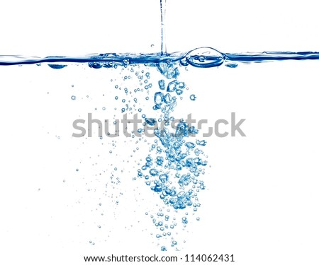 closeup of bubbles in  water