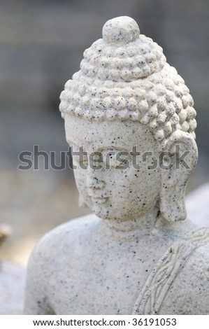 closeup of budha statue
