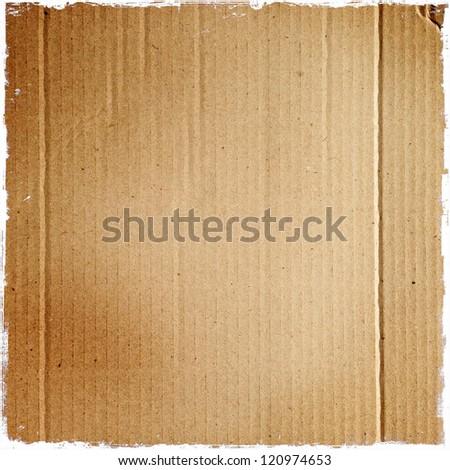 Closeup of cardboard texture