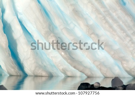 Closeup of Carved Antarctic Iceberg
