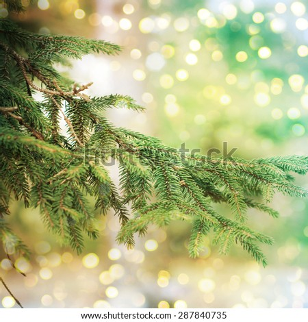 Closeup of Christmas-tree #287840735