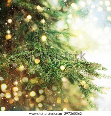Closeup of Christmas-tree #297360362