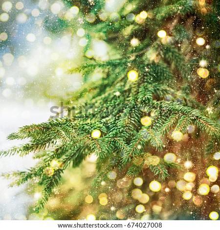 Closeup of Christmas-tree #674027008