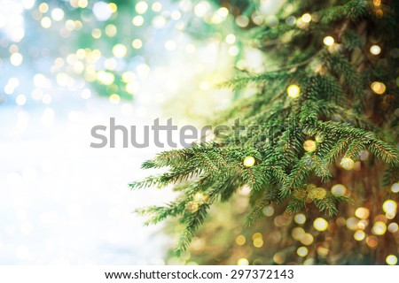 Closeup of Christmas-tree background #297372143