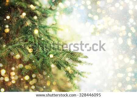 Closeup of Christmas-tree background #328446095