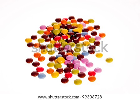 Closeup of colorful fruit candy