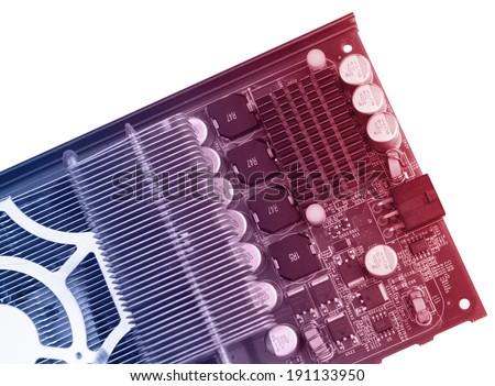 Closeup of computer graphics