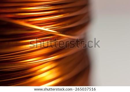 Closeup of copper coil wiring Сток-фото ©