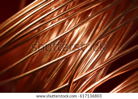 Closeup of Copper Coil Wiring ストックフォト ©
