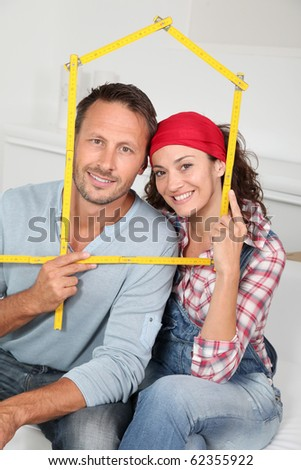 Closeup of couple buying a new house