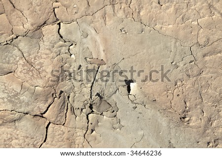 Closeup of cracked, parched earth during a drought. Good background for weather and ecology themes.