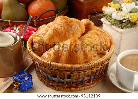 Closeup of delicious  french croissant