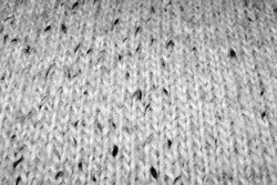 Closeup of Detailed Black and White Specked Wool Pattern