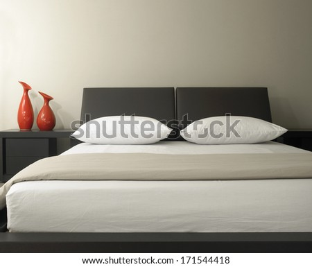 Closeup Of Double Bed