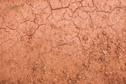 Closeup of dry soil texture background