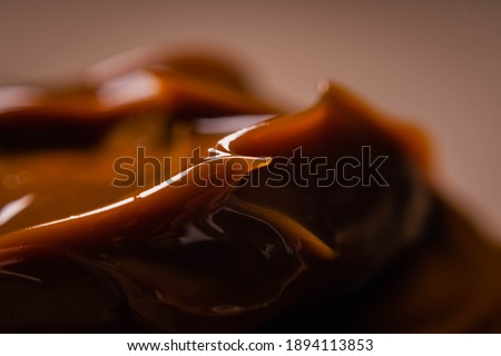 closeup of dulce de leche typical food traditional sweet dessert from cordoba argentina Foto stock ©