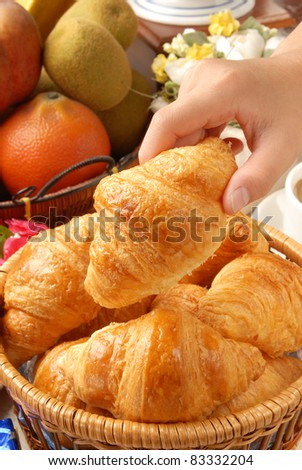 Closeup of french croissant