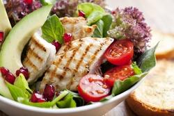 closeup of fresh chicken salad