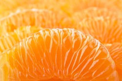 closeup of fresh mandarin background