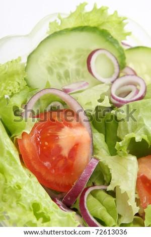 closeup of fresh salad, healthy food