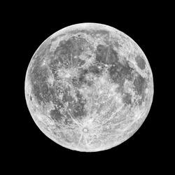Closeup of full moon, taken on 10 November 2011