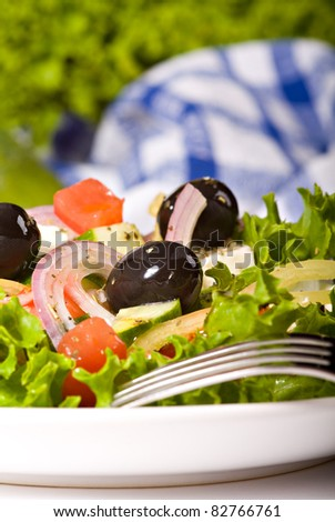 Closeup of Greek Salad