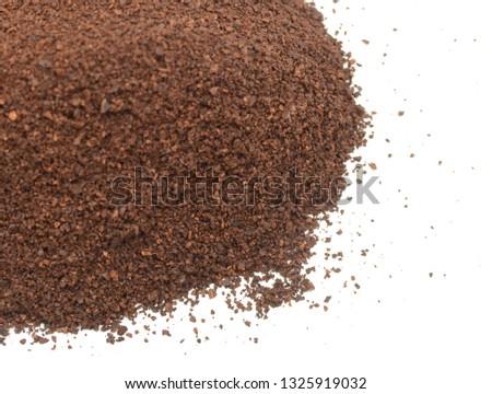 closeup of ground medium coffee #1325919032