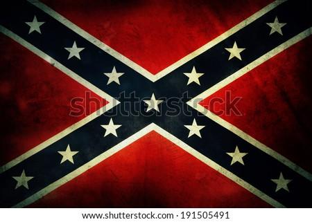 Closeup of grungy Confederate flag Сток-фото ©